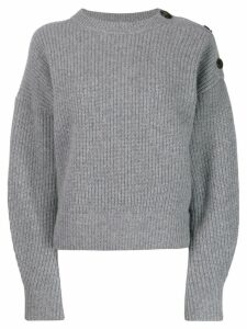 Yves Salomon shoulder button jumper - Grey