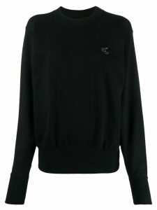 Vivienne Westwood Anglomania logo patch sweatshirt - Black
