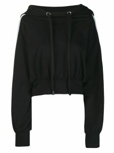No Ka' Oi oversized cropped hoodie - Black