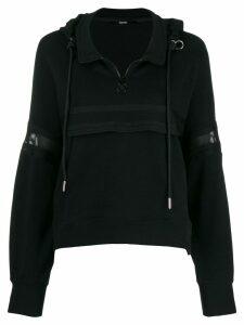 Diesel knitted band hoodie - Black