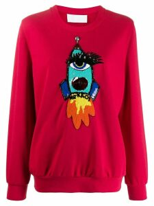 No Ka' Oi appliqué detail sweatshirt - Red