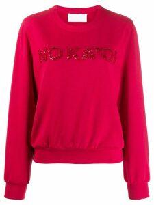 No Ka' Oi sequin embroidered sweatshirt