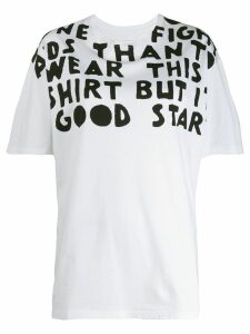 Maison Margiela oversized slogan print T-shirt - White