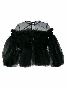 Molly Goddard ruffled tulle blouse - Black
