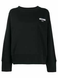 Moschino logo embroidered sweatshirt - Black