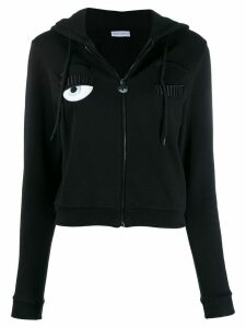 Chiara Ferragni fitted hoodie jacket - Black
