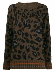 Fabiana Filippi oversized leopard jumper - Brown