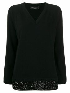 Fabiana Filippi sequin-embellished cashmere jumper - Black