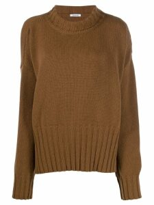 P.A.R.O.S.H. oversized turtleneck jumper - Brown
