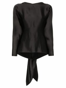 Deitas Mia tie-back blouse - Black