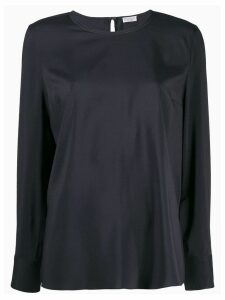 Brunello Cucinelli round neck blouse - Blue