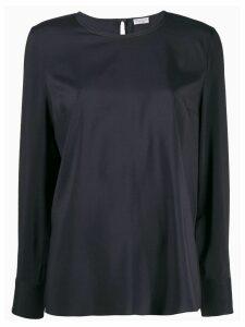 Brunello Cucinelli round neck blouse - Blue
