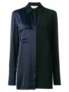 Victoria Victoria Beckham contrast panelled shirt - Blue
