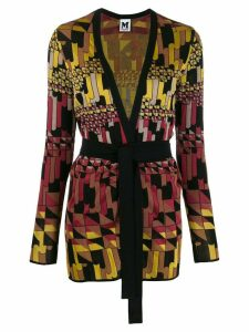 M Missoni geometric intarsia cardigan - Red