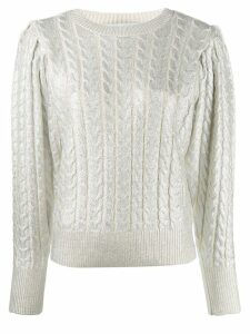 MSGM metallic cable knit jumper - White