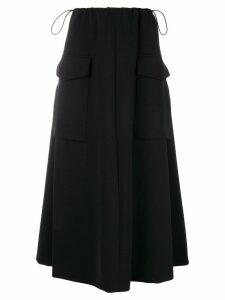 Giorgio Armani gathered front maxi skirt - Black