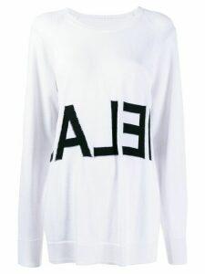 Mm6 Maison Margiela logo intarsia jumper - White