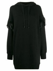 Maison Margiela fringed hoodie - Black