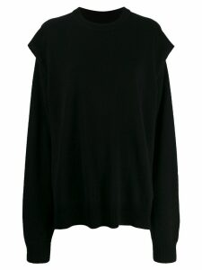 Maison Margiela sleeve cutout sweatshirt - Black