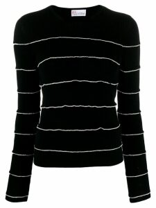 Red Valentino ruffle trim jumper - Black
