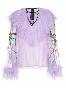 Romance Was Born Unicorn beaded blouse - Pink