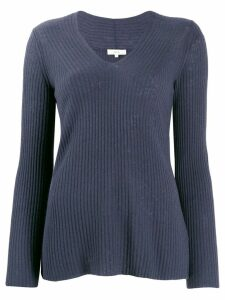 Vince ribbed v-neck jumper - Blue