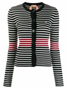 Nº21 striped knitted cardigan - Black