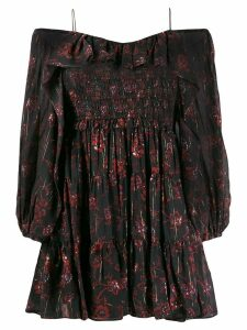 Ulla Johnson off shoulder floral dress - Black