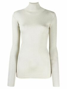 Brunello Cucinelli roll neck sweater - Silver