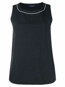 Piazza Sempione checked cropped top - Black