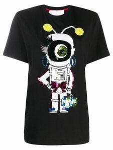 No Ka' Oi appliqué detail T-shirt - Black