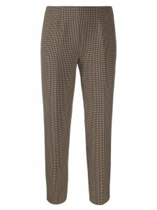 Piazza Sempione checked cropped trousers - Brown