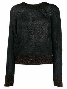 Pinko glitter detail sweater - Black