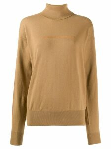 Mm6 Maison Margiela roll neck jumper - NEUTRALS
