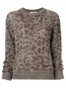 Sea leopard pattern jumper - Brown