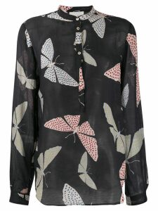 Forte Forte butterfly print shirt - Blue