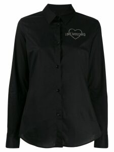 Love Moschino embellished logo shirt - Black