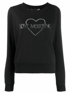 Love Moschino crystal embellished logo jumper - Black