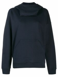 JW Anderson neck panel hooded sweater - Blue
