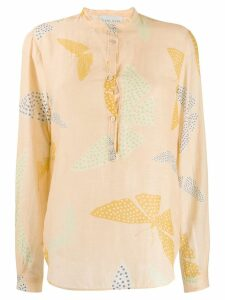 Forte Forte butterfly print shirt - NEUTRALS