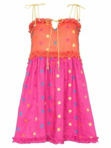 All Things Mochi Nia floral-embroidered dress - Multicolour