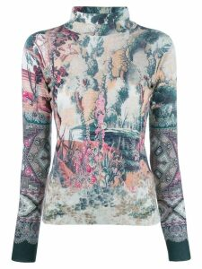 Etro knit printed top - NEUTRALS