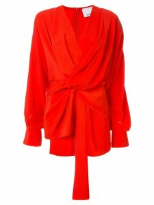 Acler Jenkins twist blouse - Red