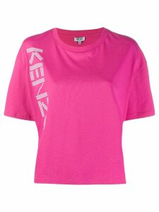 Kenzo boxy logo print T-shirt - PINK