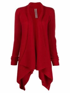 Rick Owens ribbed cardigan - Red