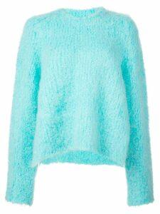 Maison Margiela textured sweatshirt - Blue