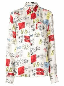 Marni sketch print shirt - NEUTRALS