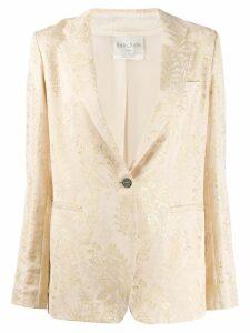 Forte Forte embroidered blazer - NEUTRALS