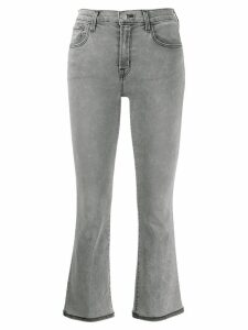 J Brand stitching detail cropped jeans - Grey