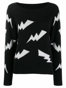 P.A.R.O.S.H. intarsia lightning sweater - Black